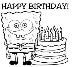 Small Picture happy birthday coloring pages