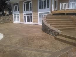 stamped concrete patio with stairs. Exellent Patio Decorative Concrete Patio With Steps In Stamped With Stairs