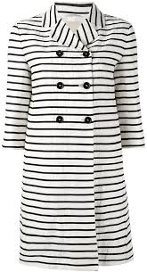 s max mara striped double ted coat