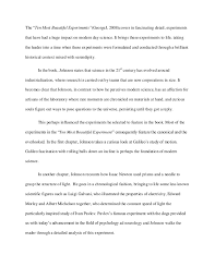 soapstone essay on the book the ten most beautiful experiments