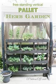 free standing vertical pallet herb garden