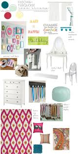 fuschia furniture. Teen Room Makeover With Colors Of Mint, Turquoise, And Fuchsia + Layers Texture Fuschia Furniture