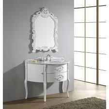 Antique Bathroom Cabinets Virtu Usa Abigail 48 White Bathroom Vanity White Finish Solid
