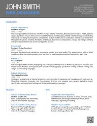 Free Resume Templates Word Template Cv Document Within 85