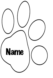 Small Picture Paw Print Coloring Page nebulosabarcom