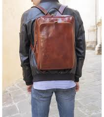 leather backpack leonardo