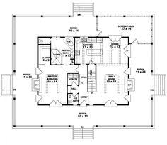 654117  One And A Half Story 3 Bedroom 25 Bath Country Style Country Style Open Floor Plans