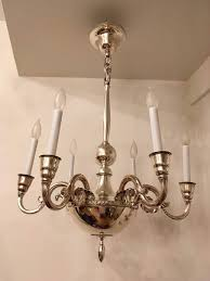 swedish silver 1920s chandelier by elis bergh for cg hallberg for 3