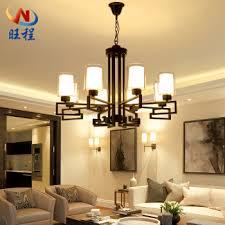 cheng led chandelier living room lamps modern simple duplex building chinese lighting ceramic atmosphere creative bedroom retro study restaurant lights