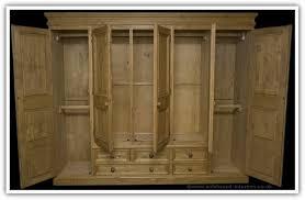 pine wardrobe 5 doors with 5 drawers