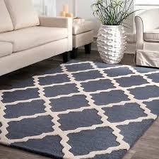 nuloom hand hooked alexa moroccan trellis wool rug 7 6 x 9