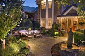 outdoor lighting provides safety for your family or guests illuminate dark corners to increase visibility line pathways and steps and light your water