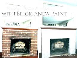 refinish brick fireplace white