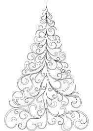 Swirly Christmas Tree Coloring Page Free Printable Coloring Pages