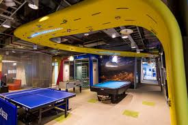 google taiwan office. the data center interior takes its style cues from old lanes of taiwan bustling heart local communitiesoh and thereu0027s a racetrack on google office