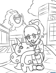 Is your child crazy about pokémon and also love drawing & painting? Yo Kai Watch Coloring Pages Printable Coloring Pages For Kids