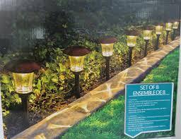 garden path lights. HGTV Solar LED Pathway Lights - 8 Pack Garden Path