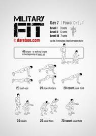 Military Workout Chart Military Workout Routines Sport1stfuture Org