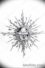 черно белый эскиз тату рисункок солнце 11032019 014 Tattoo