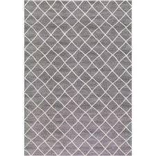 bazaar prestige ivory gray 5 ft x 8 ft trellis area rug