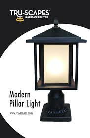 Landscape Pillar Lighting Tru Scapes Landscape Lighting Led Low Voltage Pillar Light