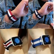 nylon sport leather bracelet 42 mm 38 mm strap for iwatch band series 3 2