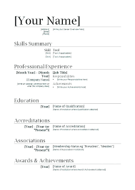 Teaching Resume Template Free Magnificent Resume Templates Teacher For Teachers Word Doc Template Free