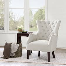 chairs for living room. Brilliant Room Shop Havenside Home Hannah OffWhite Upholstered Solid Hardwood Wingback  Chair  Free Shipping Today Overstockcom 10115918 With Chairs For Living Room E