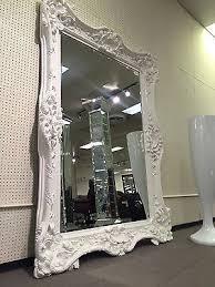 white floor mirror. Vintage Leaning Floor Mirror Opulent Hollywood Regency 69900. White 69900