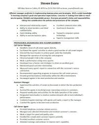 Resume For Customer Service Manager Throughout 17 Exciting Call