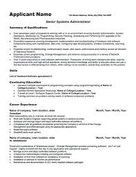 College Administration Sample Resume Simple System Administrator Resume Template System Administrator System