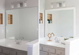 bathroom mirror frame tile.  Tile Extraordinary Idea Framing A Bathroom Mirror Interior Designing How To Frame  Easy DIY Project With Moulding That Has Clips Tile On