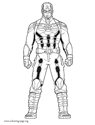 Captain America Captain America The Winter Soldier Coloring Page