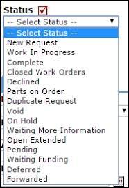Work Order Status Definitions