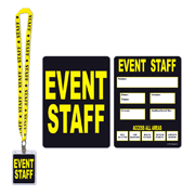 Party Pass Staff d On Lanyard - I Cappel's Event