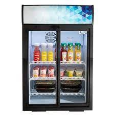 countertop glass door refrigerators