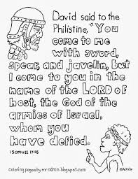 David And Goliath Coloring Pages David And Goliath Colouring