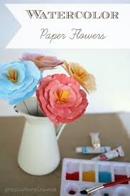 Paper Crafted Flowers 3d Watercolor Paper Peony Flowers