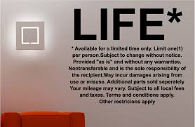 life quote terms and conditions kitchen lounge wall art sticker vinyl decal on vinyl wall art quotes for kitchen with life terms wall art quote sticker vinyl bedroom lounge kitchen ebay