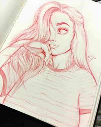 Cute Drawings Of Girls Girl Drawing Download Clip Art On