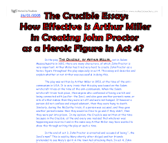 the crucible essay how effective is arthur miller in creating  document image preview