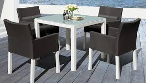 elegant modern and subtle here are three words to describe the madrid outdoor dining room set enjoy a quality build made of a rustproof sy
