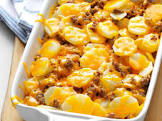 baked sausage potatoes and cheese