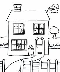 Small Picture House Coloring Pages Coloring234
