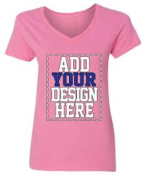 Make Your Shirt Custom V Neck T Shirts For Women Make Your Own Shirt Add Your Design Picture Photo Text Printing