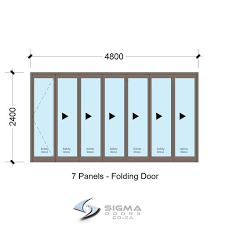 aluminium doors sfd4824 7 panel aluminium vistafold folding door
