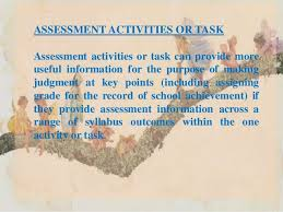 facilitating learning assessment activities