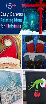 Simple Christmas Designs To Paint 15 Easy Canvas Painting Ideas For Christmas 2017