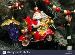 Santa Claus on a Motorcycle - Unusual Christmas Tree Ornament