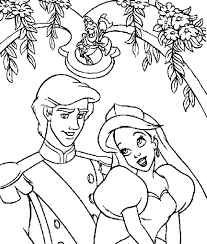 Small Picture Ariel And Prince Eric Coloring Pages Coloring Home